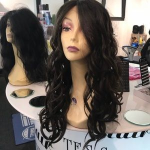 Brown wavy Swisslace Lacefront wig